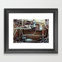 Rusting Engine Framed Art Print