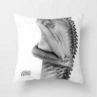 Skin & Bone Throw Pillow