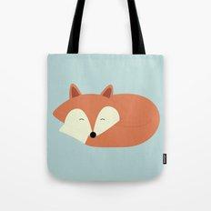 Sleepy Red Fox Tote Bag