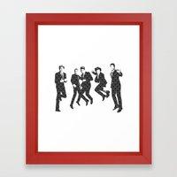 One Direction - Vintage Framed Art Print