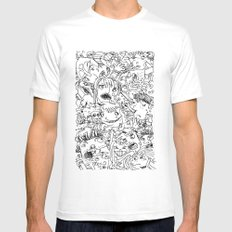 Crowd Mens Fitted Tee White SMALL