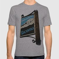 Welcome to Tacoma Mens Fitted Tee Athletic Grey SMALL