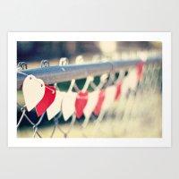 string of hearts Art Print
