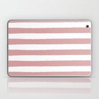 Mauve and white stripes - classy college student collection Laptop & iPad Skin