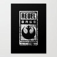 Rebel Base Canvas Print