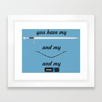 You Have - Lord of The Rings Framed Art Print