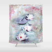 SUMMER LILY POND Shower Curtain