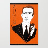 Canvas Print featuring Agent Cooper by Le Butthead