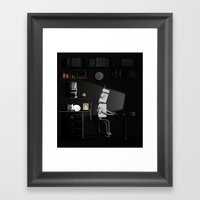 All Nighter Framed Art Print