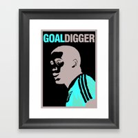 John Barnes - Goal Digge… Framed Art Print