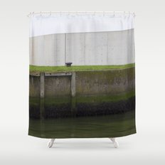 By the water Shower Curtain