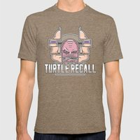 Turtle Recall Mens Fitted Tee Tri-Coffee SMALL