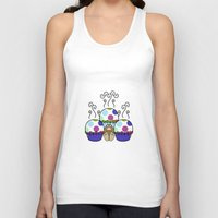 Cute Monster With Pink A… Unisex Tank Top