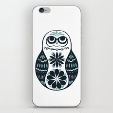 Flower Owl Matryoshka - Steel iPhone & iPod Skin