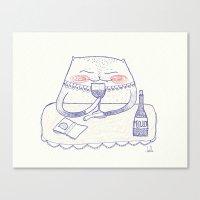 Wine Cat Canvas Print