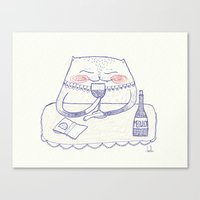 wine cat Canvas Print