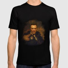 Christopher Walken - replaceface Black Mens Fitted Tee SMALL