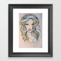 Blue Ribbon  Framed Art Print