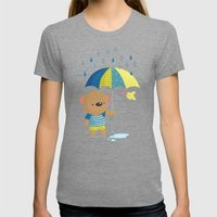 Rainy Season Womens Fitted Tee Tri-Grey SMALL
