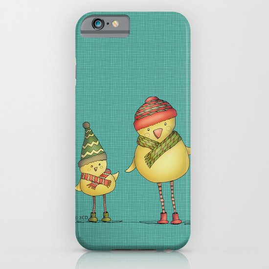 Two Chicks - teal iPhone & iPod Case