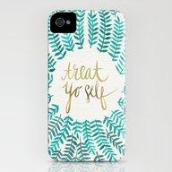 Treat Yo Self – Gold &… iPhone (4, 4s) Slim Case