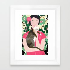 Cherry Blossom Girl Framed Art Print