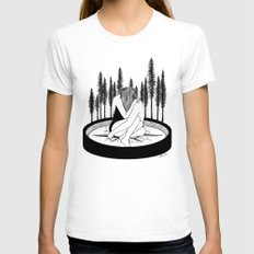 Lost Stars Womens Fitted Tee White SMALL