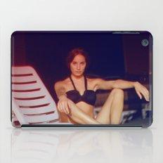 Night at the pool iPad Case