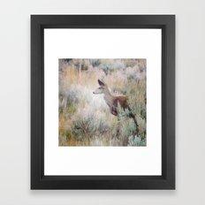 Sage Deer Framed Art Print