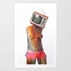 SEX ON TV by ZZGLAM Art Print