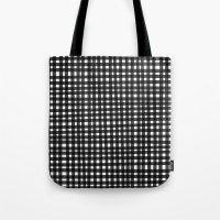Black Gingham Tote Bag
