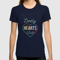 Lonely Hearts Club Womens Fitted Tee Navy SMALL