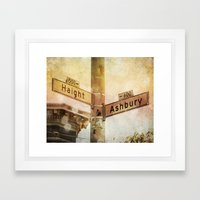 Sunset In the Haight Framed Art Print