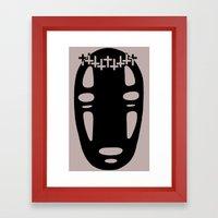Woe Face Framed Art Print