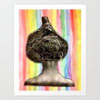 Tree Head Art Print
