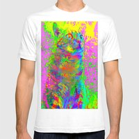 Catsplosion-Lady Jasmine Mens Fitted Tee White SMALL