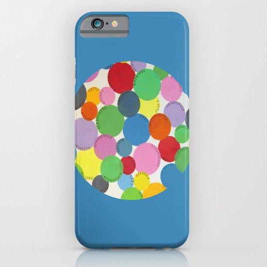 Word Bubbles Blue iPhone & iPod Case