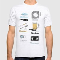 Trainspotting Vector Mens Fitted Tee Ash Grey SMALL