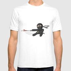 Ninja Swing SMALL Mens Fitted Tee White