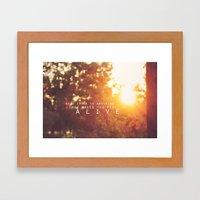 feel alive. Framed Art Print