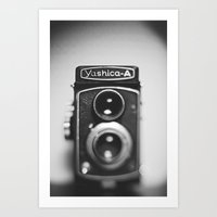 Yashica-A Black And Whit… Art Print