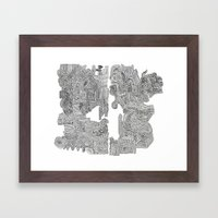 Squigglies Framed Art Print