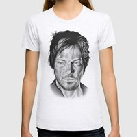 Daryl Dixon Womens Fitted Tee Ash Grey SMALL