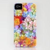 Rainbow Flower Shower iPhone (4, 4s) Slim Case
