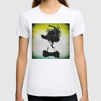 Mrs Skeleton Womens Fitted Tee Ash Grey SMALL