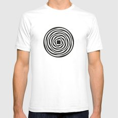 aubrey White SMALL Mens Fitted Tee