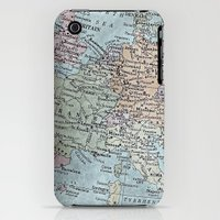 iPhone 3Gs & iPhone 3G Cases featuring old map of Europe by inourgardentoo