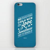 One Hit Wonder- Buffalo Stance, Blue iPhone & iPod Skin