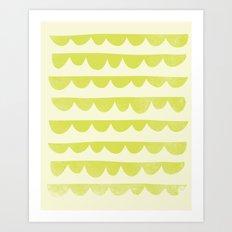 Scalloped Art Print