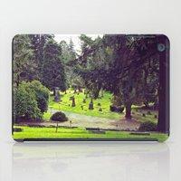 Cemetery landscape iPad Case